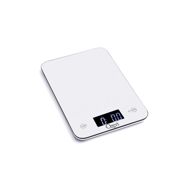 Ozeri Touch Professional Tempered Glass Digital Kitchen Scale, White