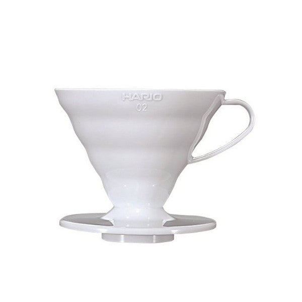 Hario V60 Plastic Coffee Dripper (Size 02, White)