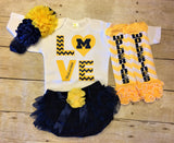 Michigan Wolverines Infant Outfit