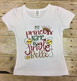 My princess name is Jingle Belle Outfit