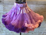 tangled pettiskirt, rapunzel tutu, ruffled skirt, dance recital skirt, first birthday skirt, girl pettiskirt, toddler pettiskirt, infant pettiskirt, petticoat