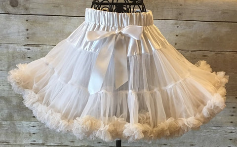 White Pettiskirt with Gold Trim