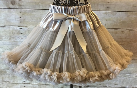 Gray Pettiskirt