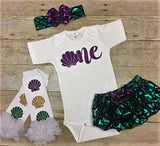 Mermaid First Birthday, Under the Sea Ariel Outfit, Mermaid Party, Little Mermaid, Little Mermaid birthday outfit, Toddler Mermaid Outfit,