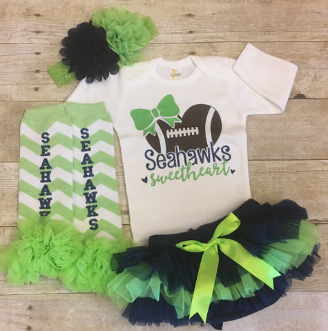 Seahawks Baby Outfit
