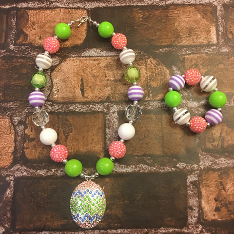 Easter Egg #2 Chunky Necklace