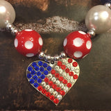 Labor Day/4th of July Chunky Necklace