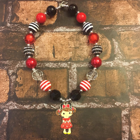 Minnie Mouse Girl Chunky Necklace