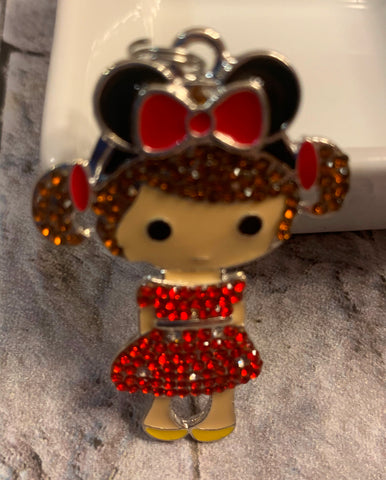 Girl with Minnie Mouse Ears Pendant