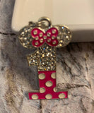 Minnie/Mickey Birthday One or Two Pendant