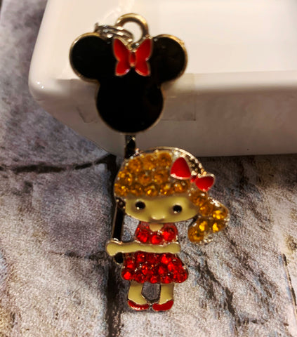 Disney Girl with Minnie Balloon Pendant
