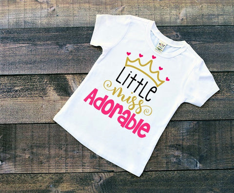 Little Miss Adorable shirt
