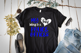 Police Officer Shirt, My Heart belongs to a Police Officer