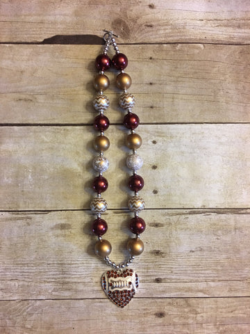 Florida State Football Chunky Necklace
