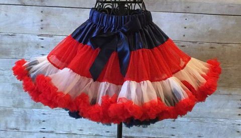 Red, White and Blue Pettiskirt