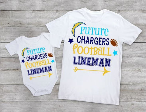 Future Chargers football lineman