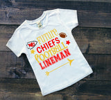 KC Chiefs boys football shirt
