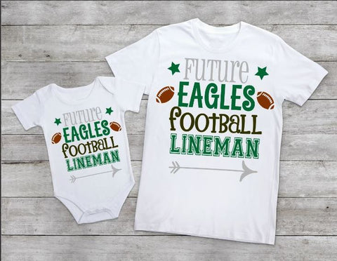 Future Eagles football lineman