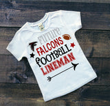 Future Falcons football lineman