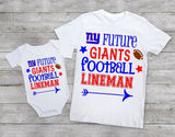 Future Giants football lineman