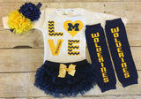 Michigan Wolverines Baby Girl Bodysuit
