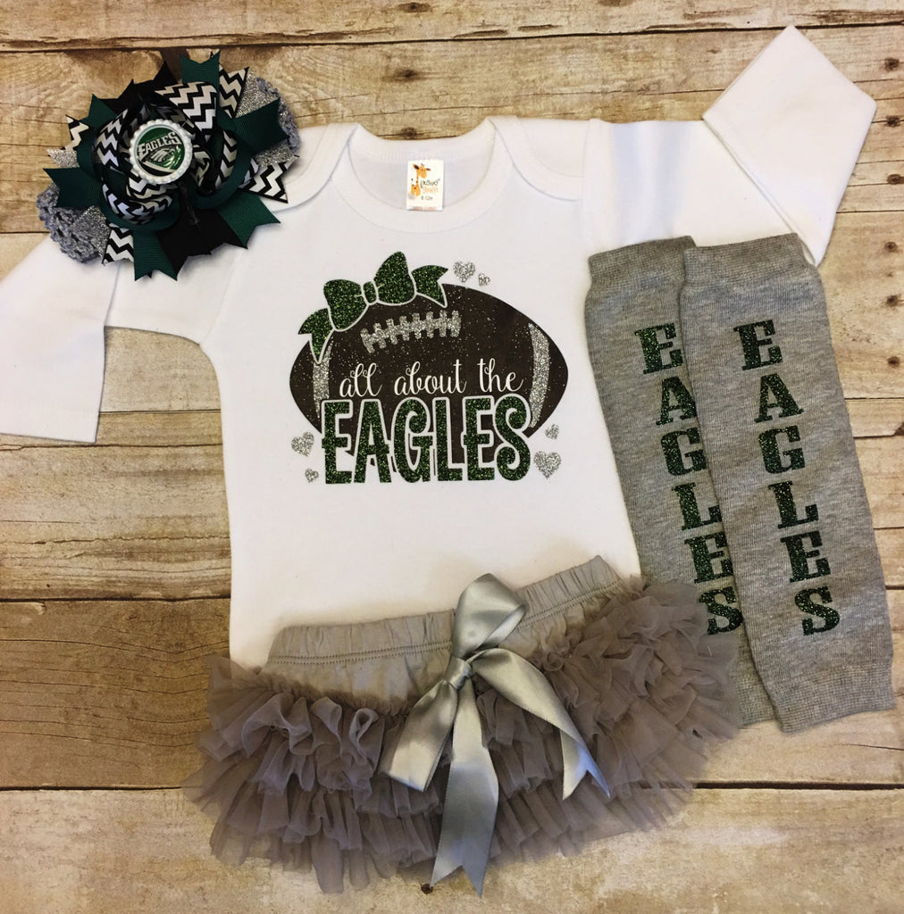brand new 99830 aaa76 Philadelphia Eagles Baby Girl Outfit