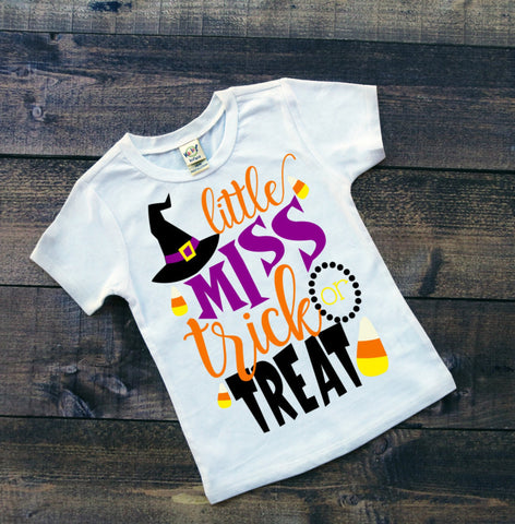 Little Miss Trick or Treat Bodysuit or Tee
