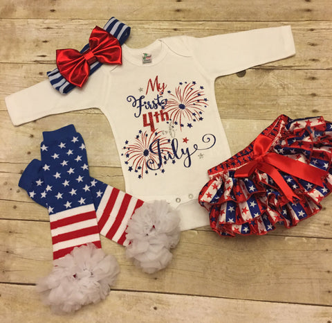 Baby Girls 4th of July Outfit
