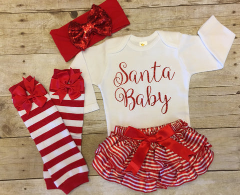 Infant Girl Christmas Outfit