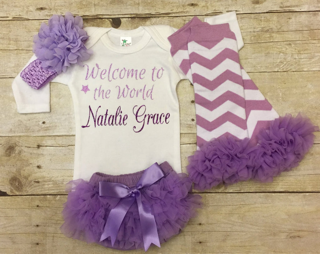 e2f5cc3e6d8ef Welcome to the World-Newborn Coming Home Outfit – Keepsake Konnections