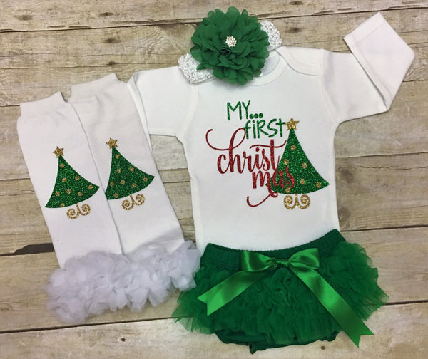 my first christmas baby girl outfit personalized baby girl christmas outfit my 1st christmas baby red and gold baby girl christmas