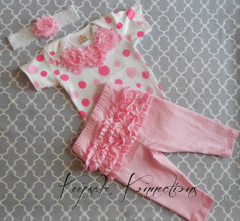 Baby Girl Polka Dot Take Home Couture Outfit