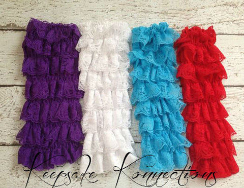 Girls Lace and Ruffles Legwarmer