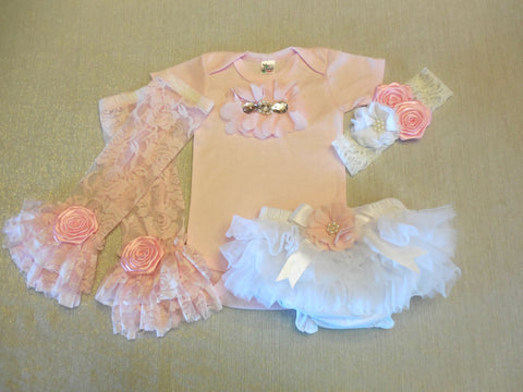 Newborn Girl Pink Outfit