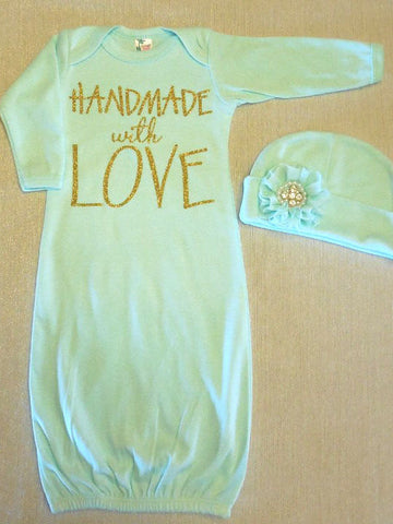 Baby Gown and Hat Gift Set
