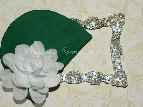 Infant Girl Green Beanie Hat