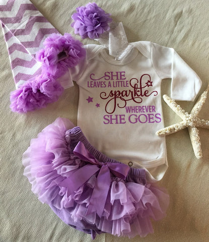 Newborn Girl Coming Home Outfit / Lavender