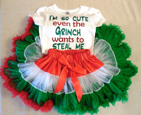 Girl Grinch Christmas Outfit