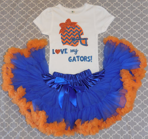 UF Girl Gator Outfit Go Gators