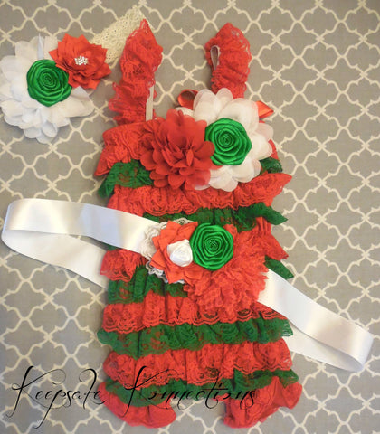 Girls Christmas Romper Outfit