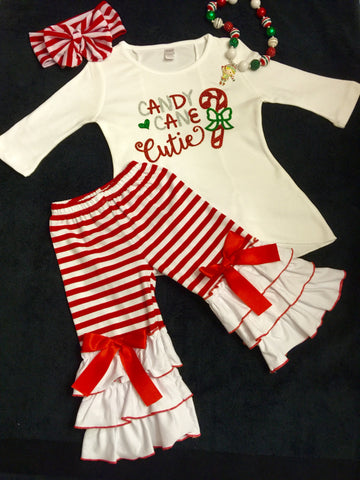Girls Christmas Outfit Santa Photos