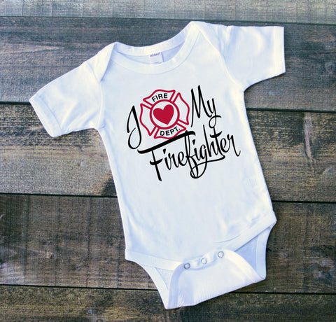 "Bodysuit ""I Love My Firefighter"""