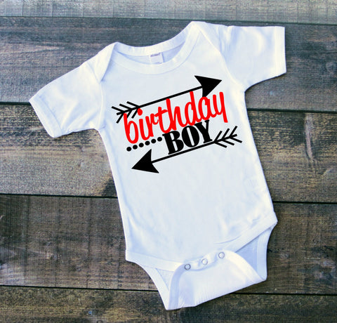 Birthday Boy Bodysuit Customized,