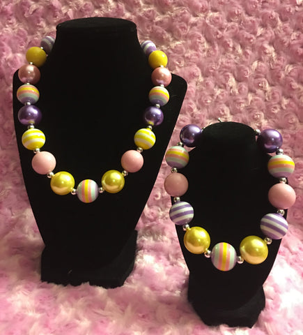 American Girl Inspired Spring Chunky Necklace