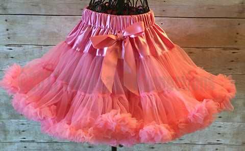 pettiskirt, handmade skirt, girls skirt, ruffle skirt, ruffled skirt, toddler skirt, little girl skirt, girls ruffled skirt, coral skirt, coral, girls ruffle skirt, birthday skirt