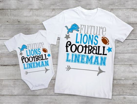 Future Lions football lineman