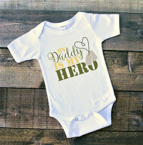 My Daddy Is My Hero bodysuit