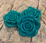 Acrylic Rose Focal Bead