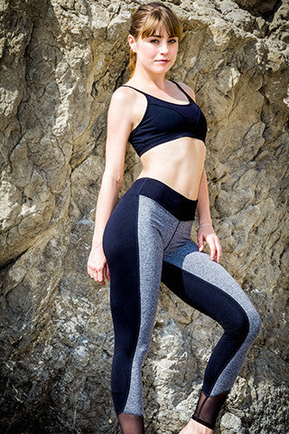 MESH COLOR BLOCK LEGGING