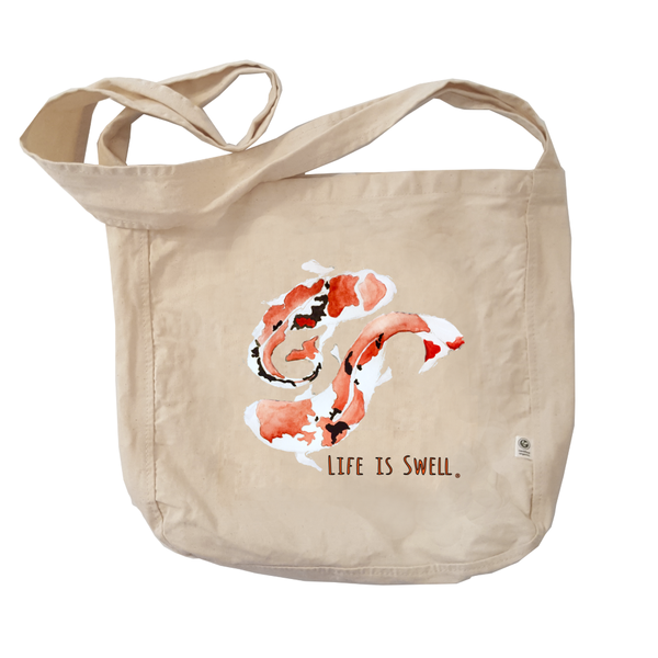 Koi Pond Organic Cotton Farmer Sling Bag
